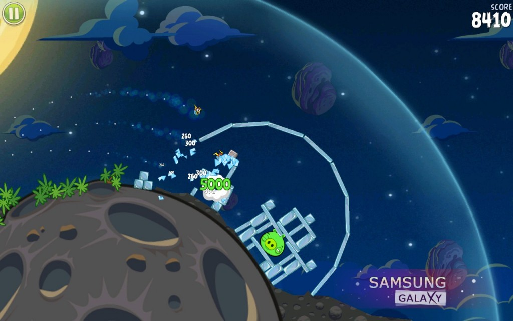 Angry Birds Space для Samsung Galaxy S, S2, Note