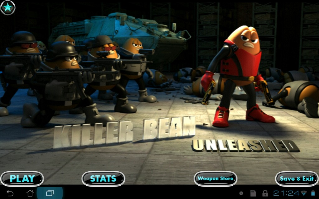 Killer Bean Unleashed - игра на движке Unity для Android
