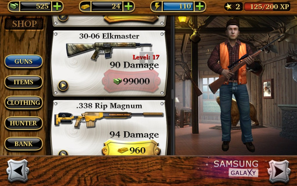 Deer Hunter Reloaded для Андроид арсенал оружия