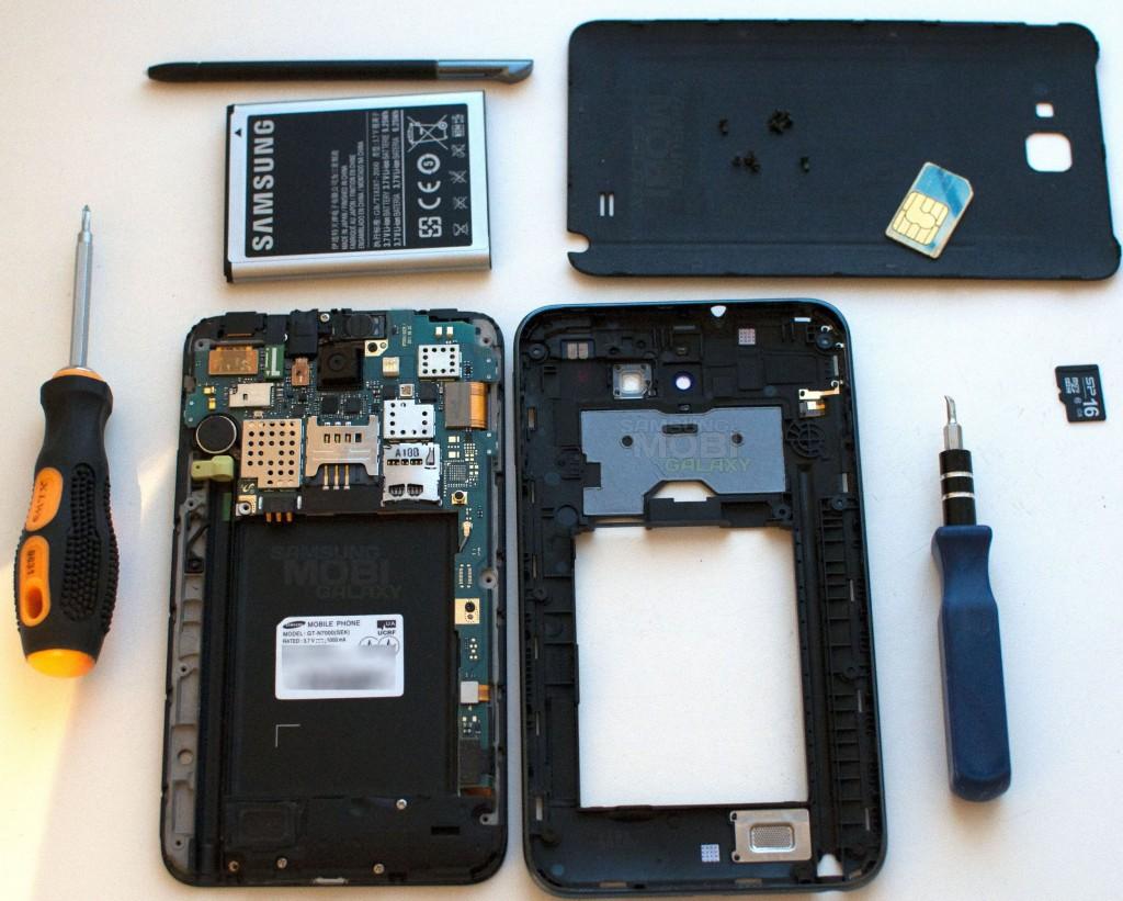 Как разобрать Samsung Galaxy Note N7000