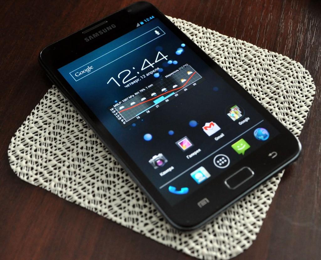 Внешний вид телефона Samsung Galaxy Note N7000