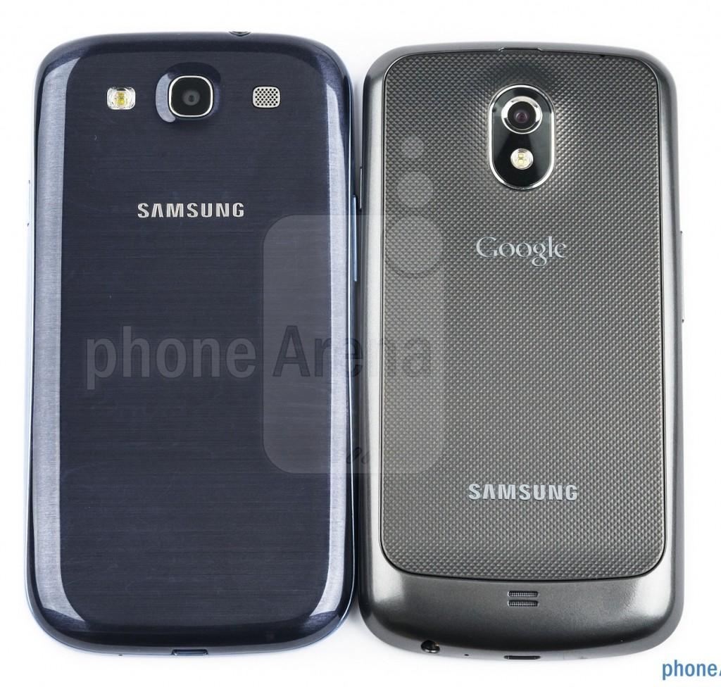 Samsung Galaxy S III против Nexus S, задние крышки