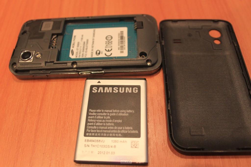 Фотографии телефона Samsung Galaxy Ace GT-S5830 - крышка, аккумулятор