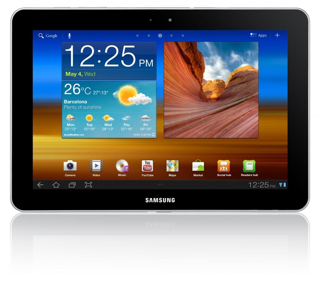Внешний вид и габариты Samsung Galaxy Tab 10.1 GT-P7500