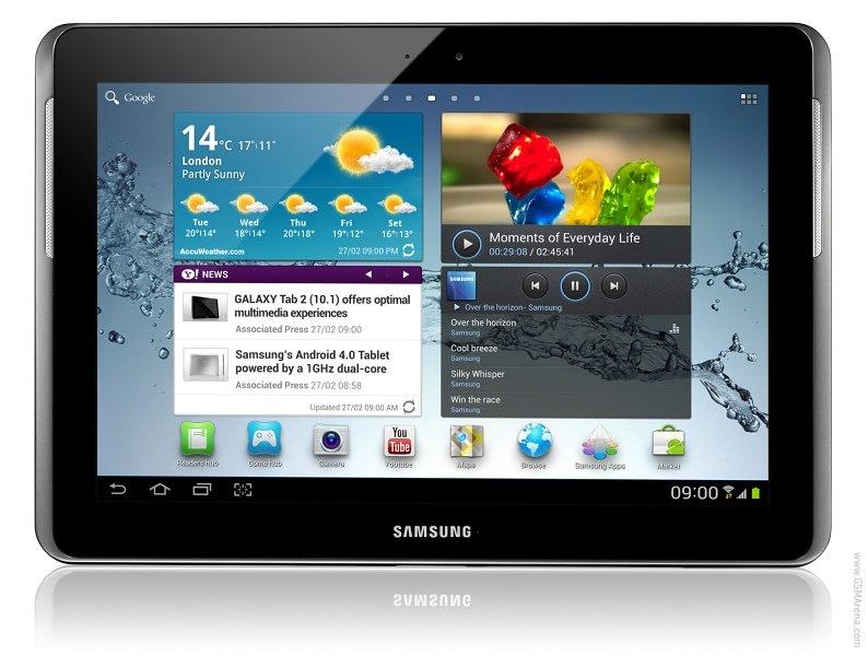 Внешний вид Samsung Galaxy Tab 2 10.1