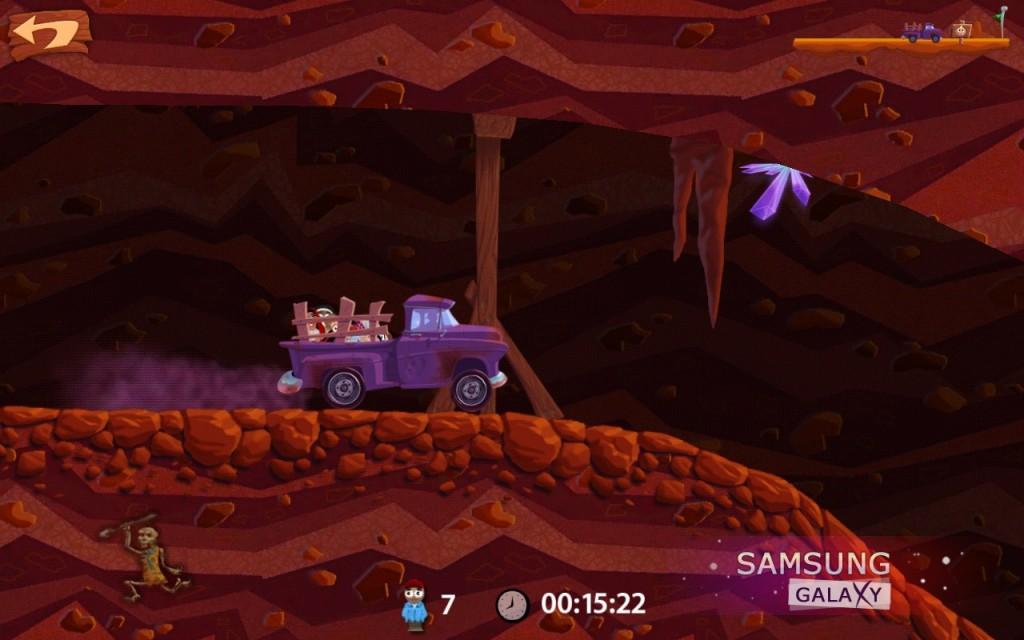 Игра Smuggle Truck, уровни под землей