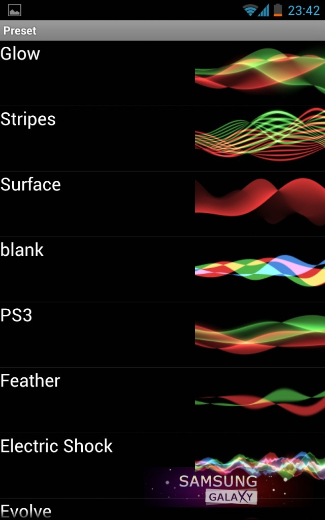 Wave - супер обои в стиле Xperia S, настройки