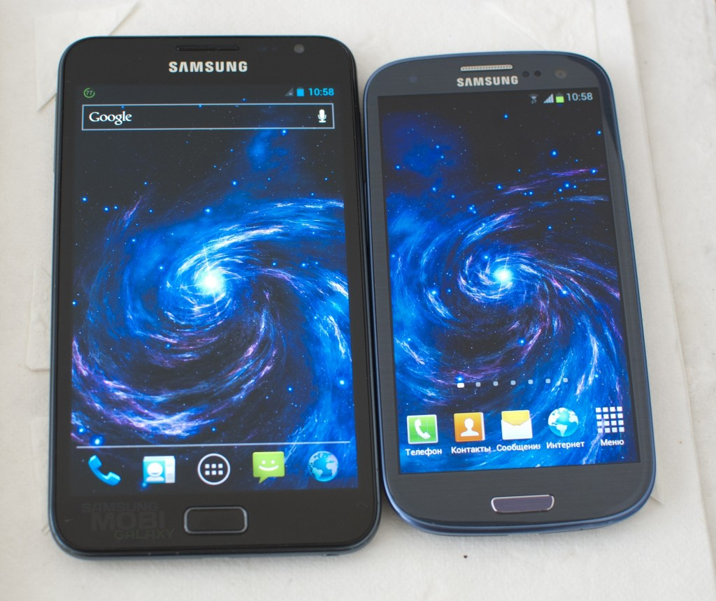 Сравнение экранов Samsung Galaxy S3 и Note N7000