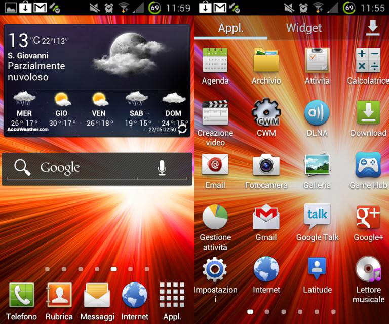 TouchWiz от Samsung Galaxy S III для Note, S 2