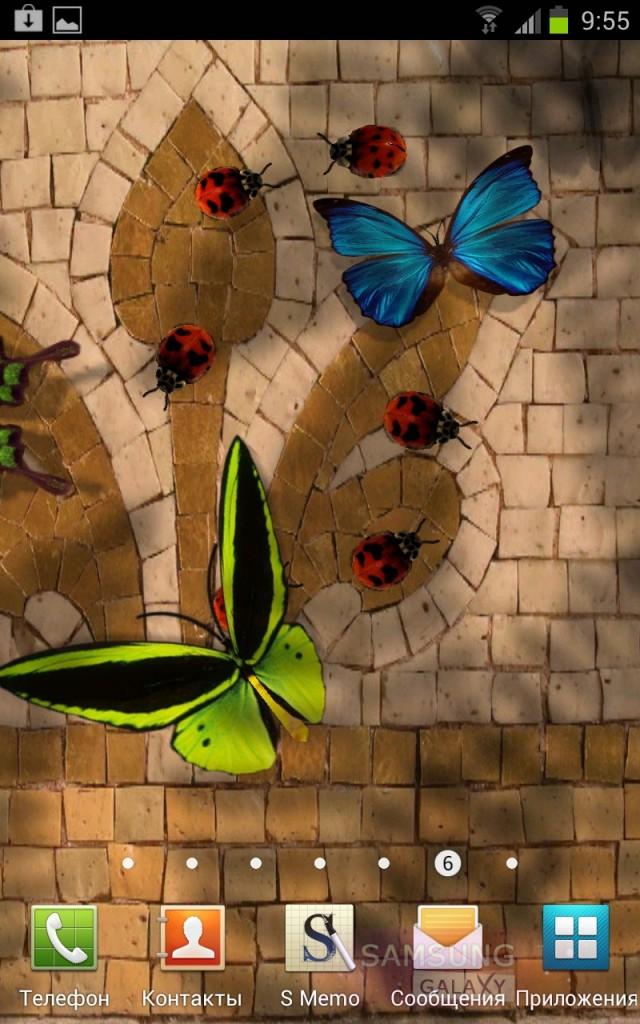 Живые обои Friendly bugs - жучки и бабочки