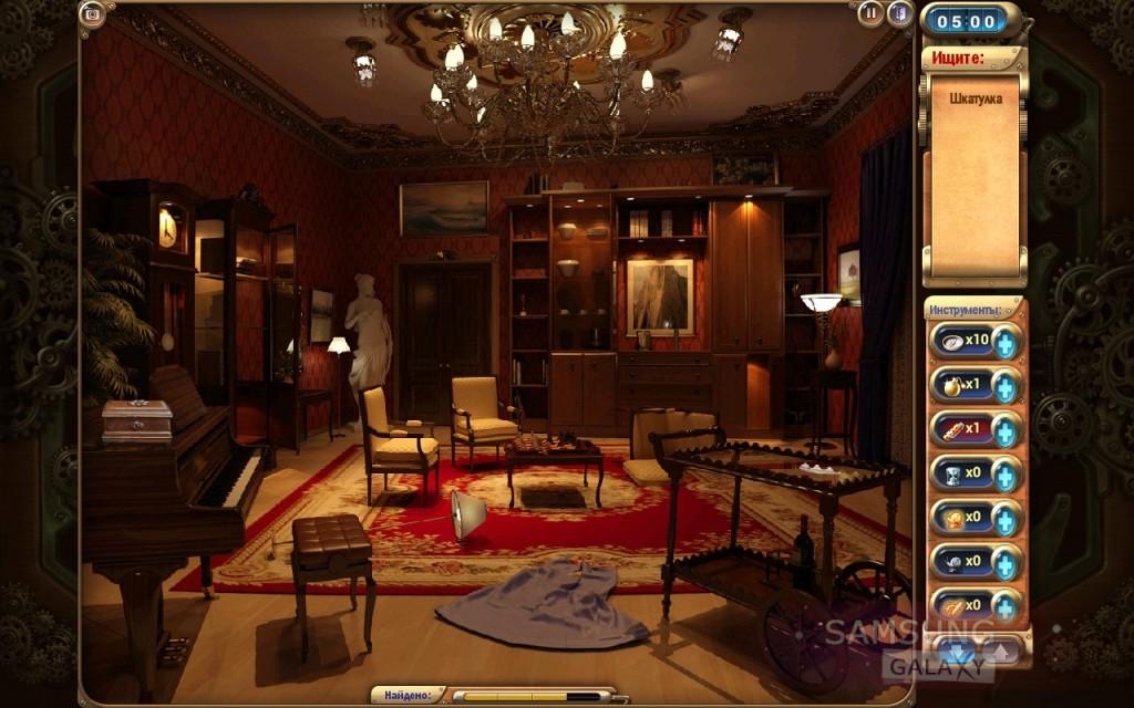 Игра Mystery Manor на Android - первая комната