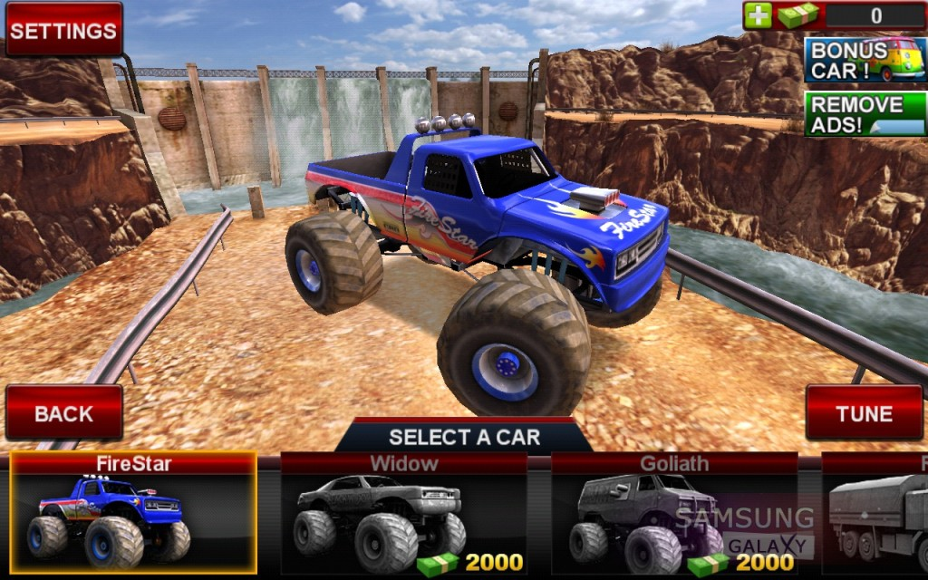 Offroad Legends для Samsung Galaxy Note, S III, S2, Ace - гараж