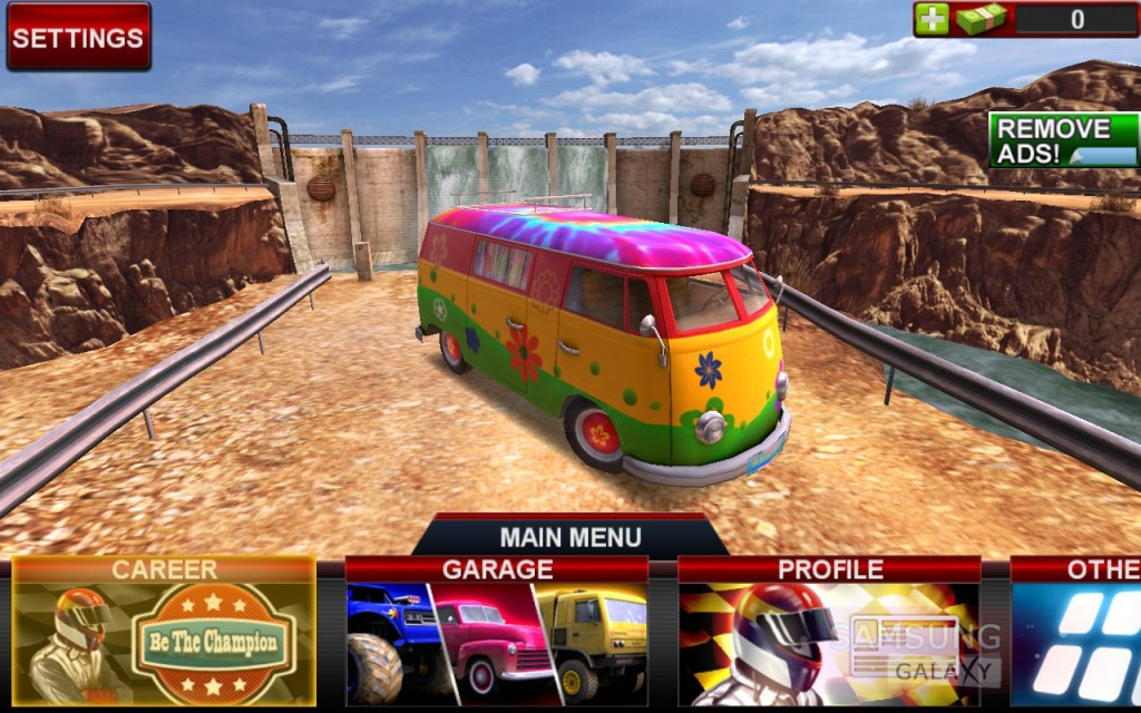 Offroad Legends для Samsung Galaxy Note, S III, S2, Ace - гламурный автобус