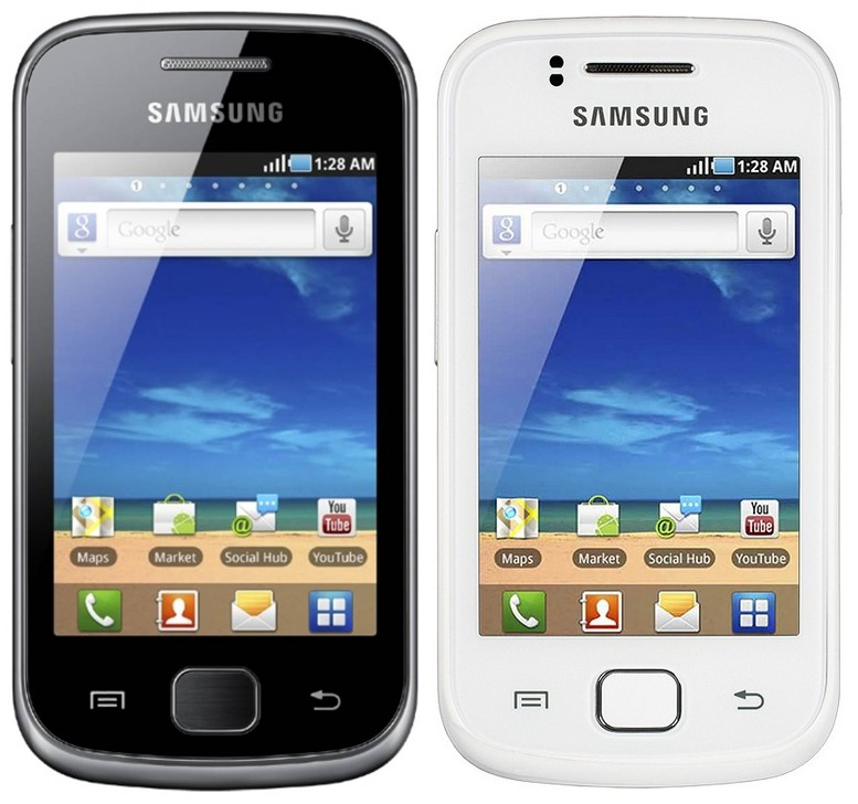 Samsung Galaxy Gio S5660 черный и белый корпуса