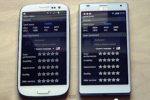 Сравнение (видео) Samsung Galaxy S 3 и LG Optimus 4X HD