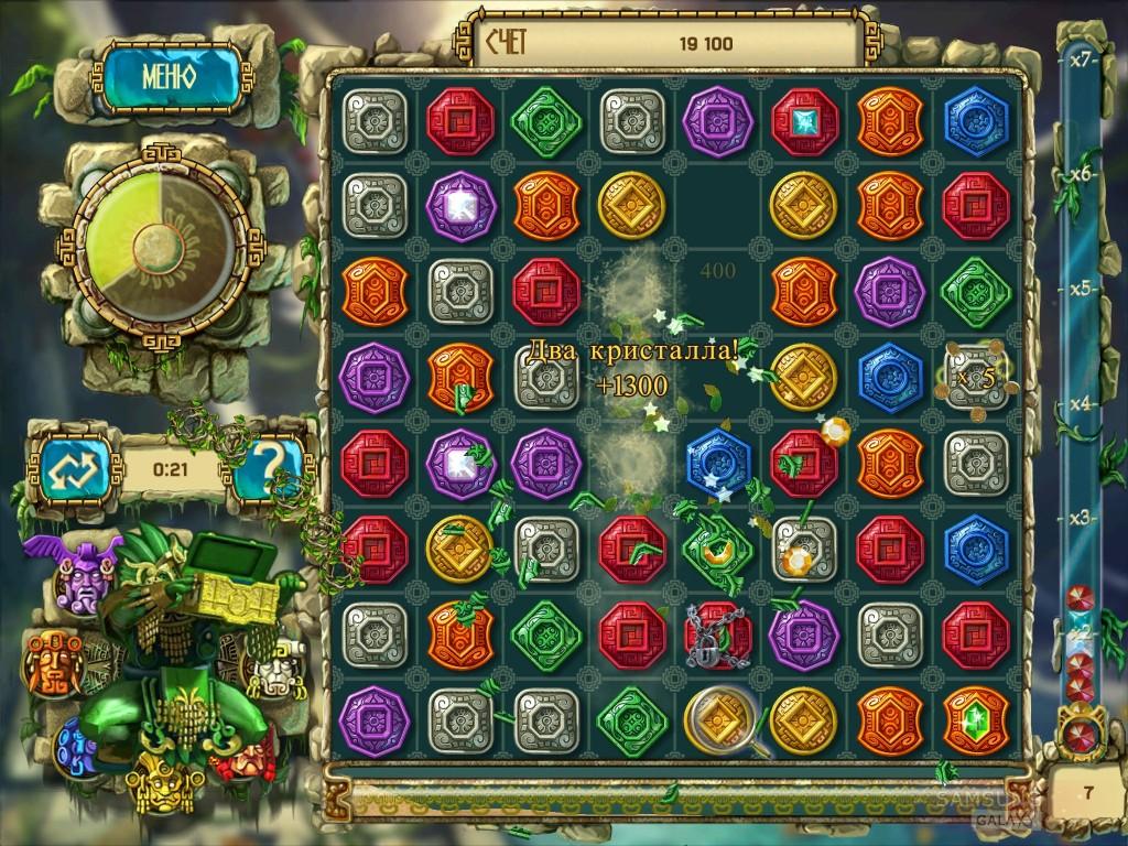 Игра Сокровища Монтесумы 3 - зеленый тотем
