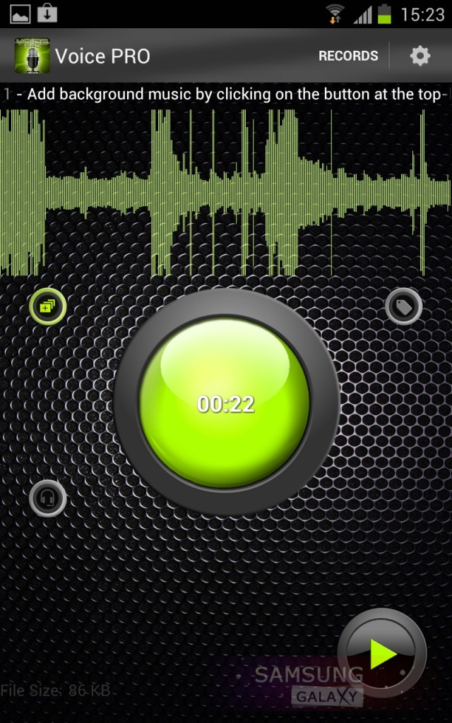 Voice PRO - программа для записи звука на Samsung Galaxy Note, S 3, Ace
