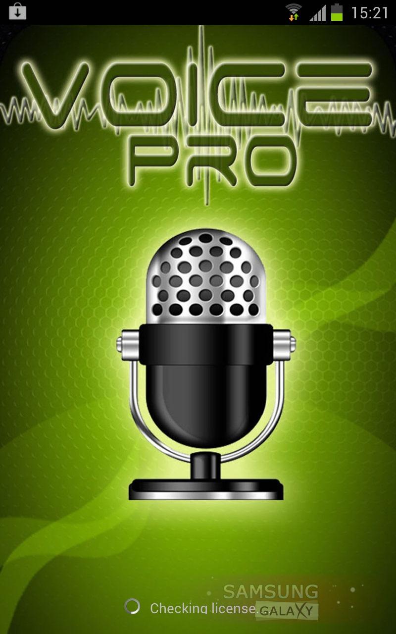 Voice PRO - программа диктофон для Самсунг Галакси