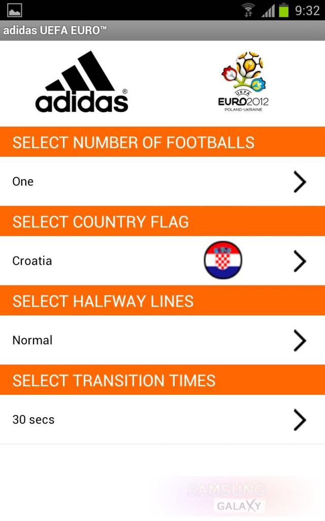 Живые обои adidas EURO 2012