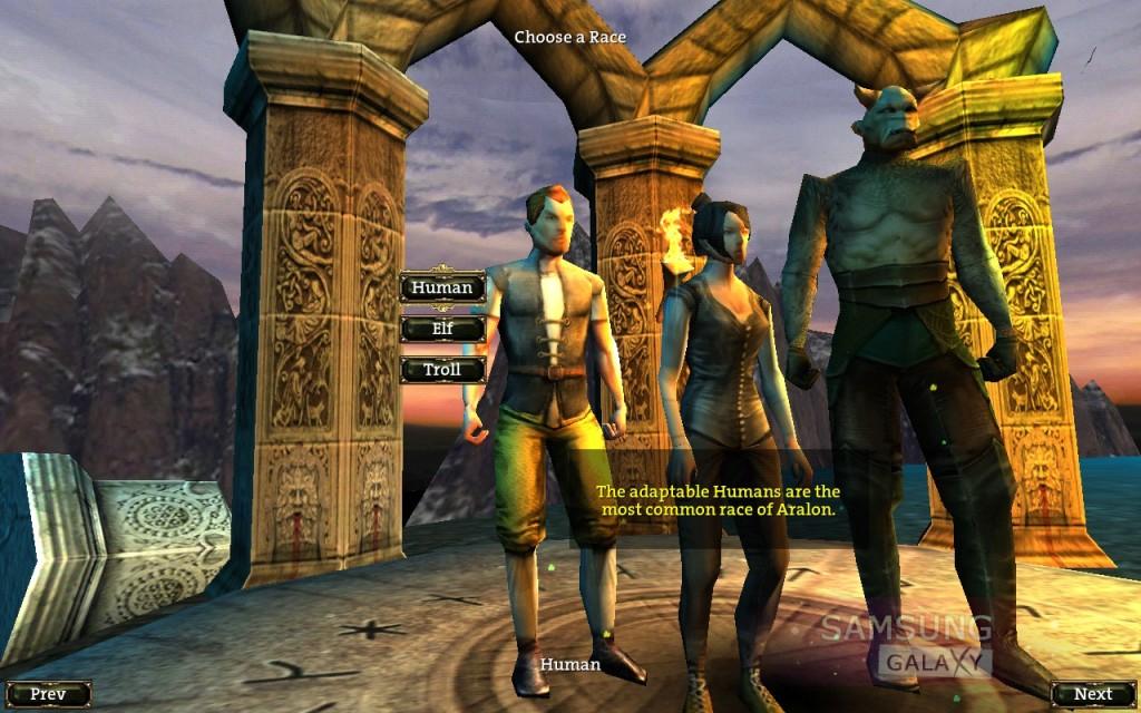 Aralon: Sword and Shadow HD - RPG - выбор героя