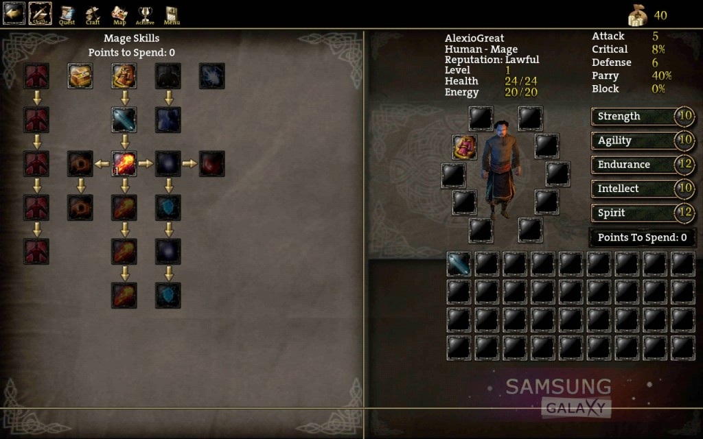 Aralon: Sword and Shadow HD - навыки