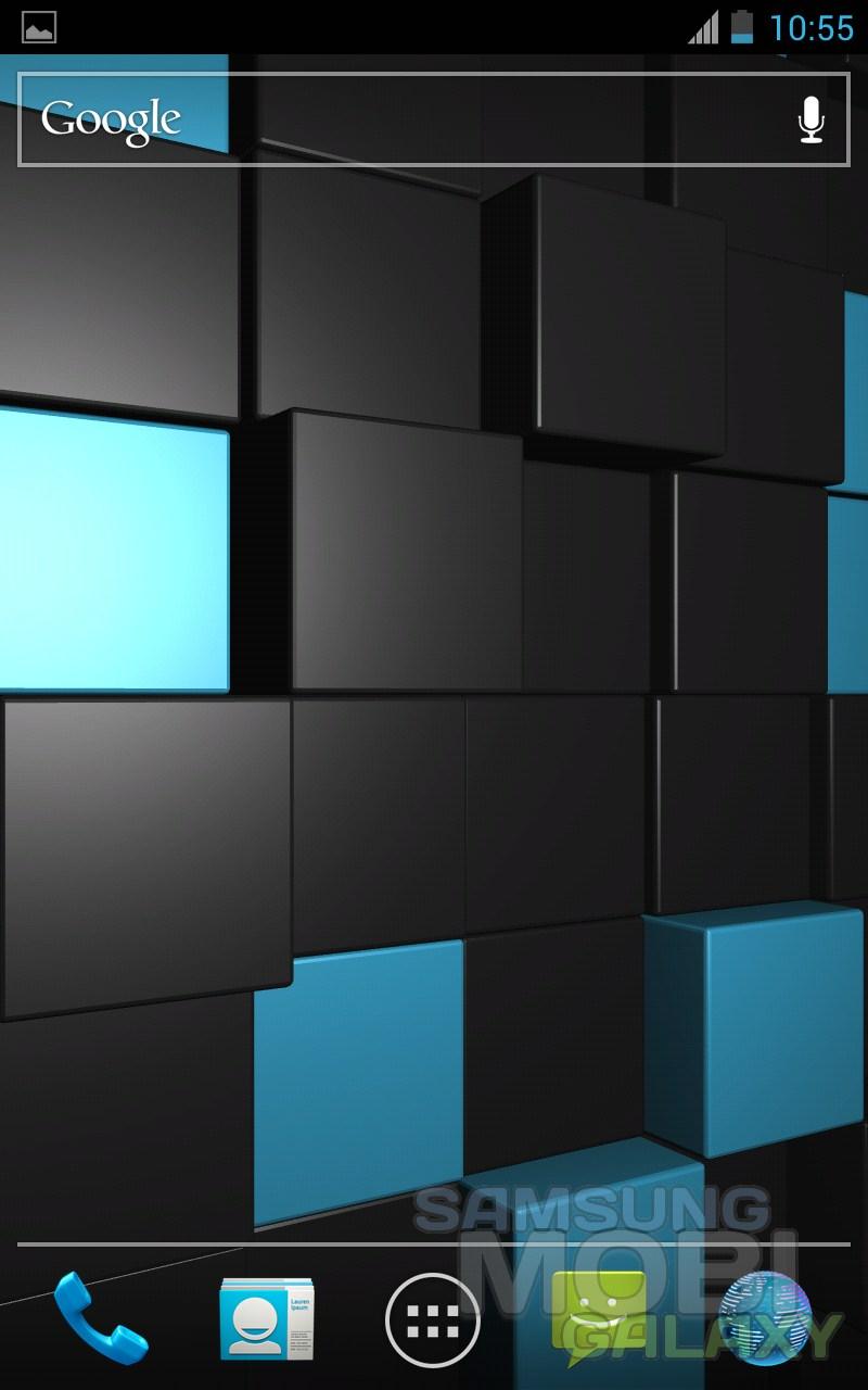 Анимированные обои Cubescape 3D для Samsung Galaxy Ace 2, Note, S III