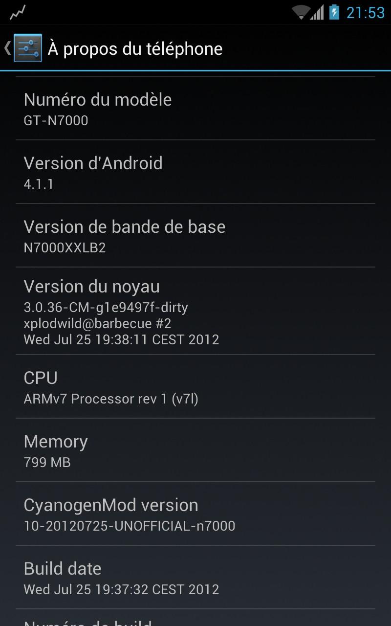 CyanogenMod 10 на JellyBean 4.1.1 для Galaxy Note