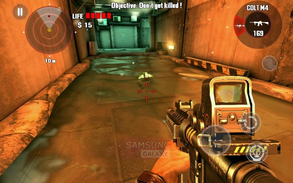 Игра Dead Trigger - плавающий зомби