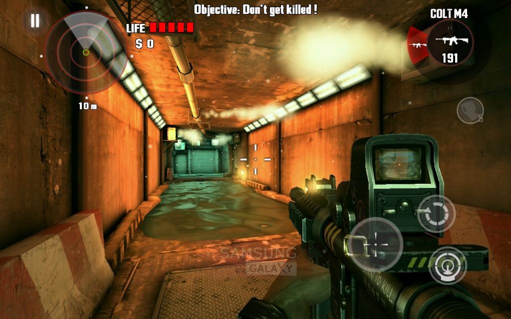 Игра Dead Trigger - графика Tegra 3 на Самсунг Гэлакси
