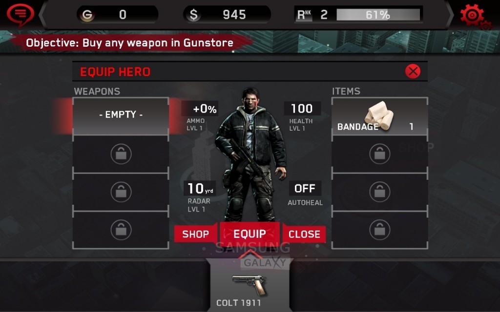 Игра Dead Trigger - настройка персонажа