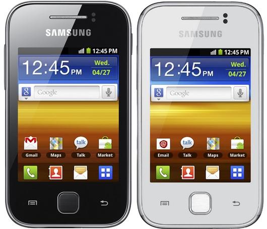 Внешний вид корпуса Samsung Galaxy Y S5360 (белый и черный)