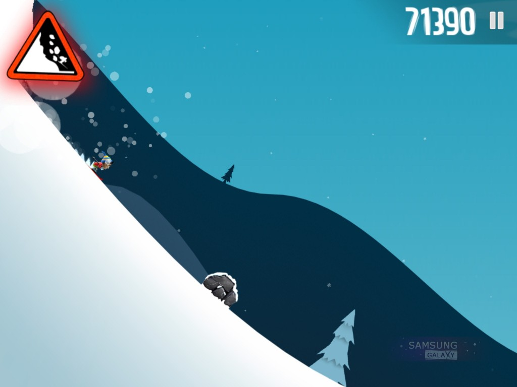 Игра Ski Safari для Samsung Galaxy Note, Ace, Gio, S III