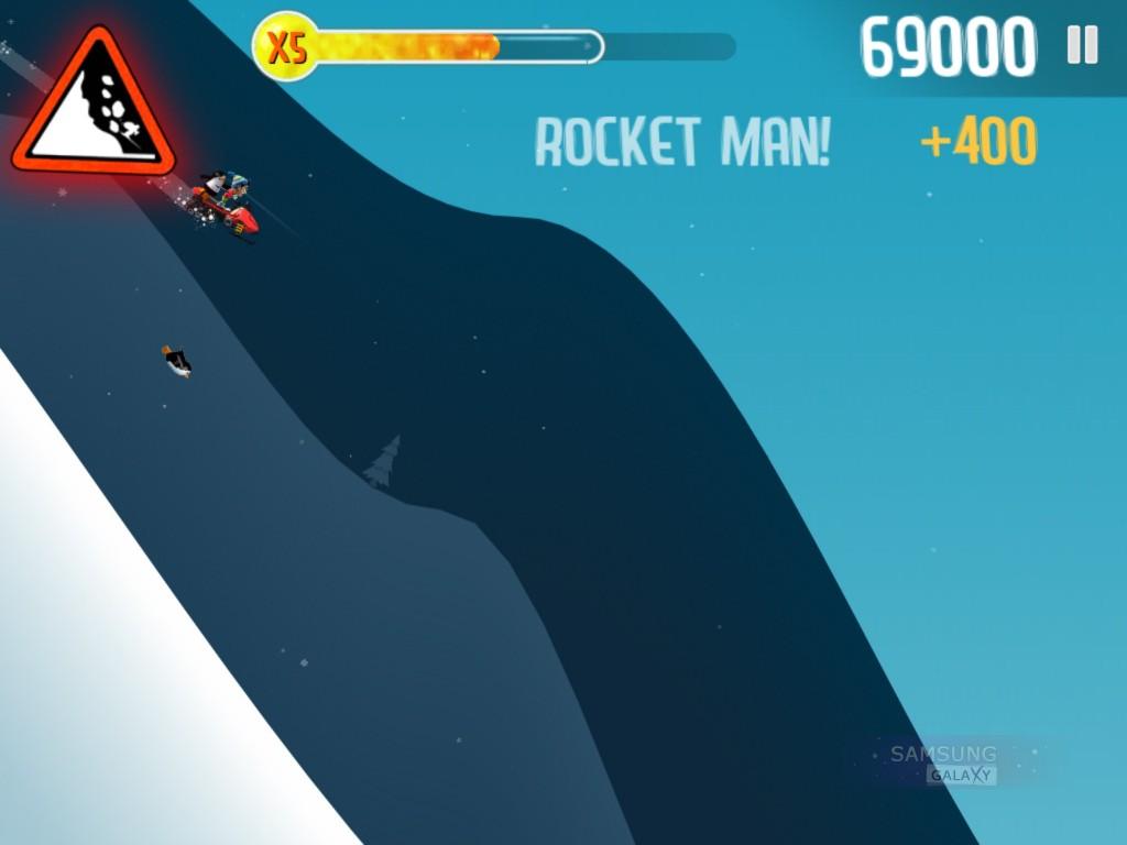 Игра Ski Safari для Samsung Galaxy Note, Ace, Gio, S III