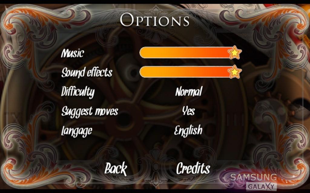 Игра Ancient Magic Book - опции