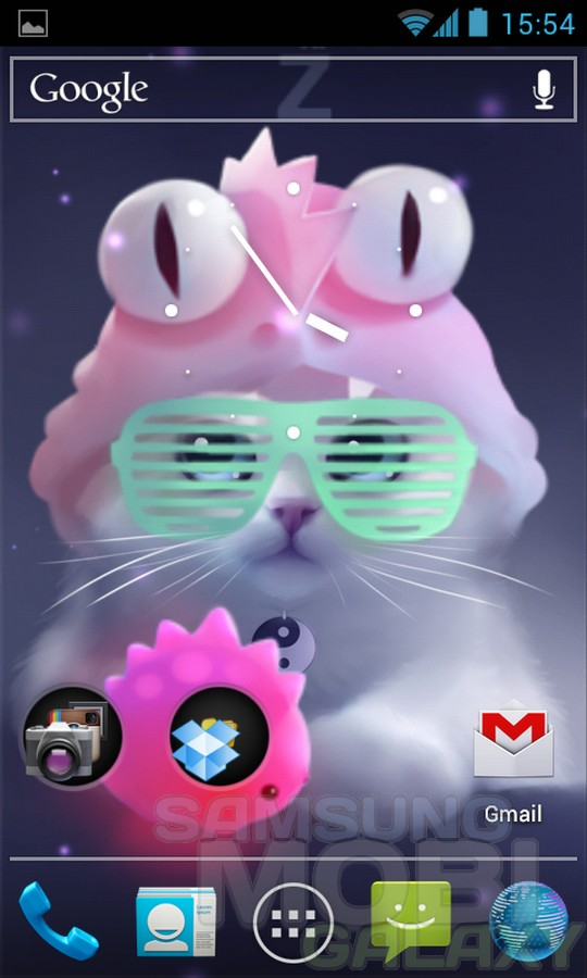 "Yang The Cat – ""живой"" котенок для Samsung Galaxy"