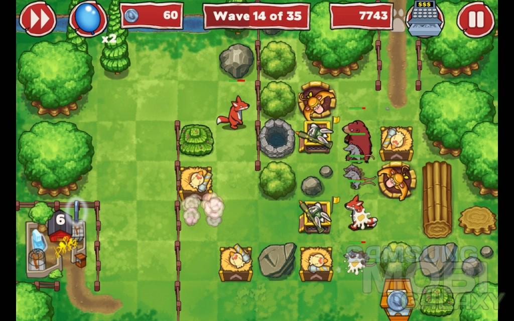 Игра Zoo Defenders для Samsung Galaxy Ace, Note, Gio, S 2, S III