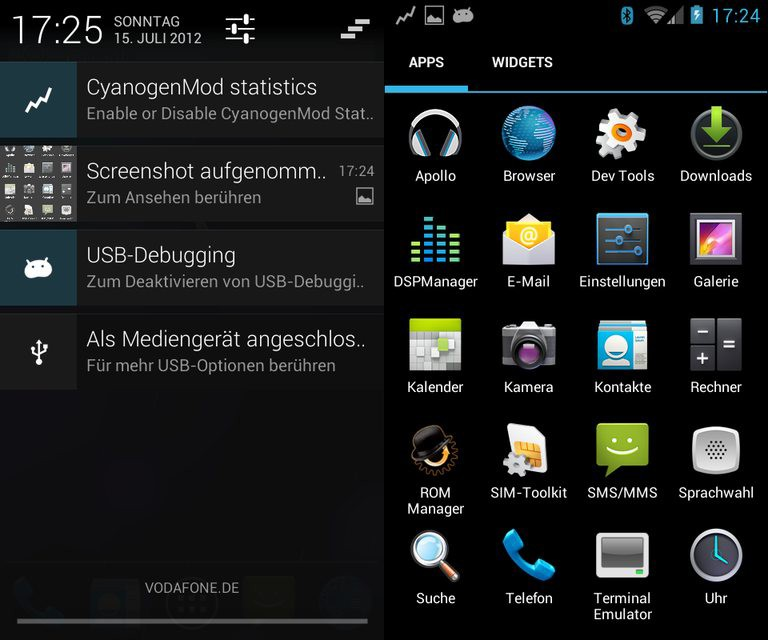 CyanogenMod 10 (Jelly Bean 4.1.1) для Galaxy S 2