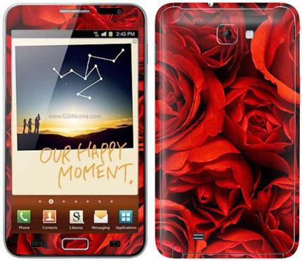 Виниловые наклейки (розы) на Samsung Galaxy Note