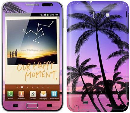 Виниловые наклейки (пейзаж) на Samsung Galaxy Note