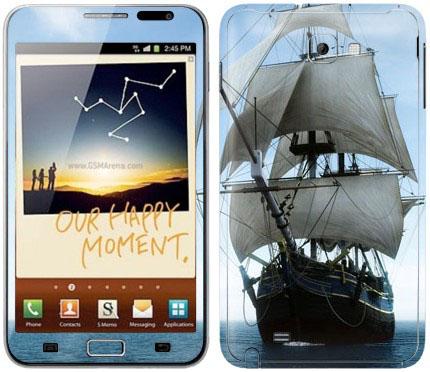 Виниловые наклейки (корабль) на Samsung Galaxy Note