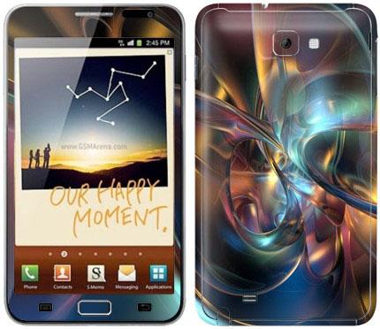 Виниловые наклейки (абстракция) на Samsung Galaxy Note