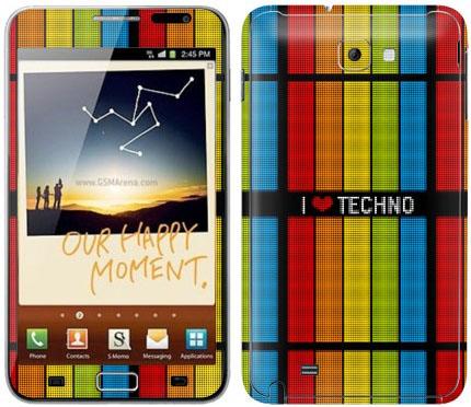 Виниловые наклейки (музыка) на Samsung Galaxy Note