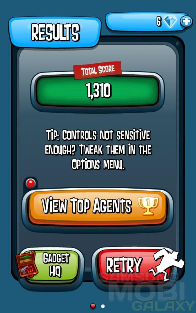 Игра Agent Dash для Samsung Galaxy Note Ace 2 S 3 Gio