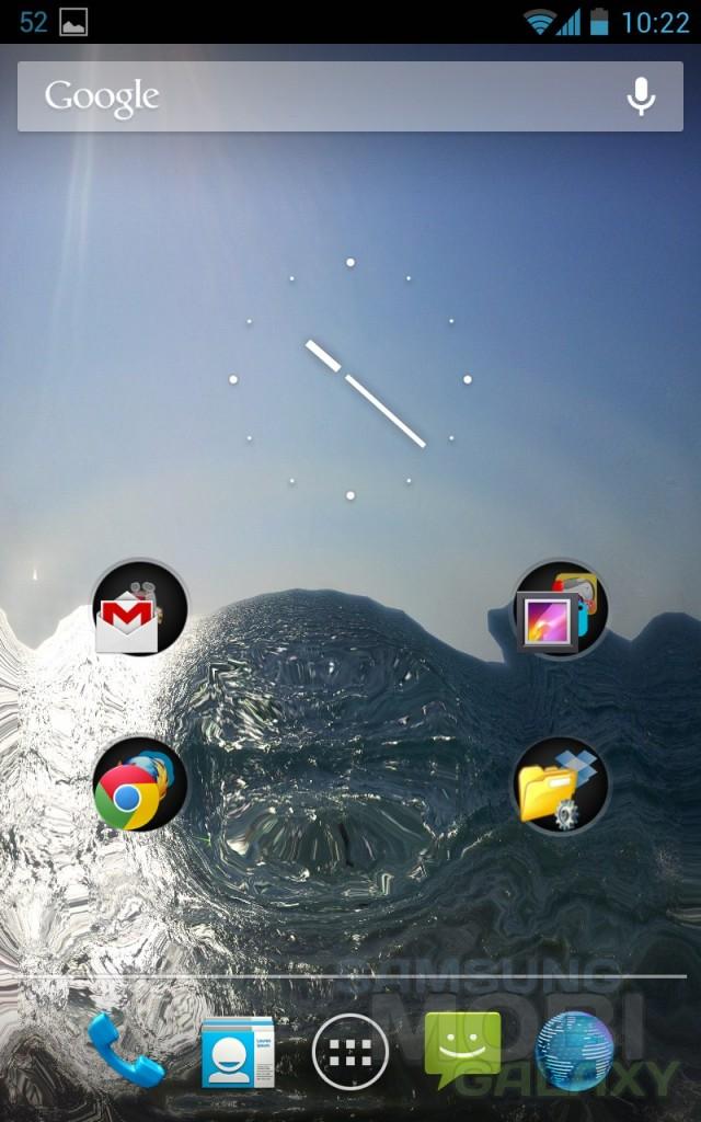 "Обои ""живая вода"" для Android от Samsung Galaxy S 3"