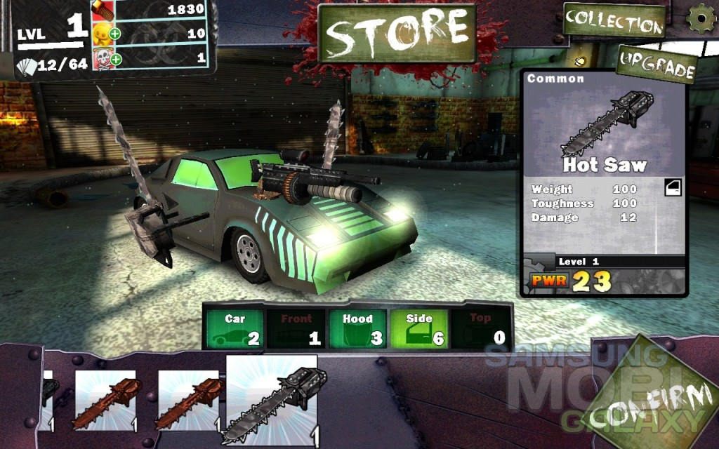 Игра Gears & Guts для Samsung Galaxy, машина крутая