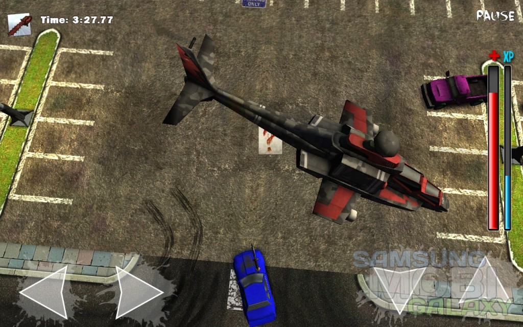 Игра Gears & Guts для Samsung Galaxy - вертолет спасения