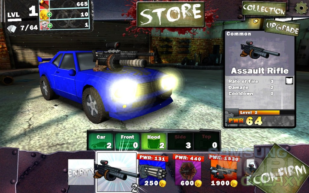 Игра Gears & Guts для Samsung Galaxy, прокачка машины в гараже