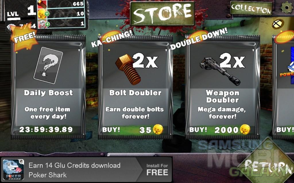 Игра Gears & Guts для Samsung Galaxy, апгрейды