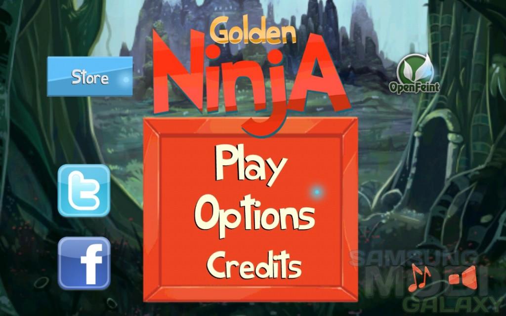 Golden Ninja - аркада для Samsung Galaxy