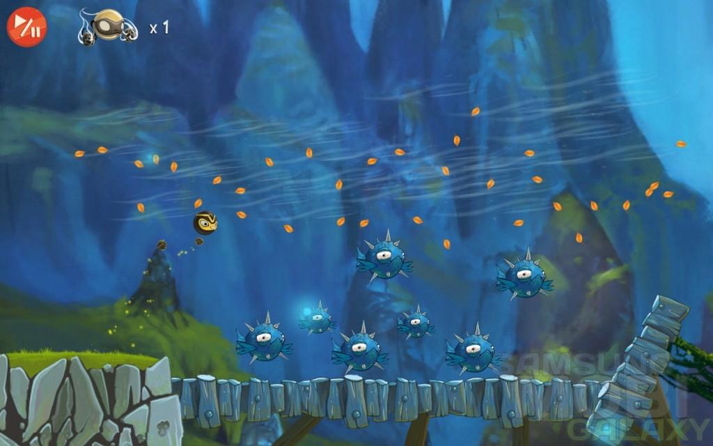 Golden Ninja - аркада для Samsung Galaxy - унесенный ветром